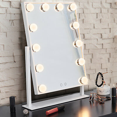 LED Glam Hollywood Dressing Table Mirror Vanity Lighted Cosmetic Dimmable Bulb • 54.95£