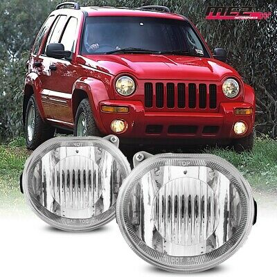 $48.79 • Buy For Jeep Liberty 02-04 Bumper Driving Fog Lights Lamps Replacement Pair DOT Clea