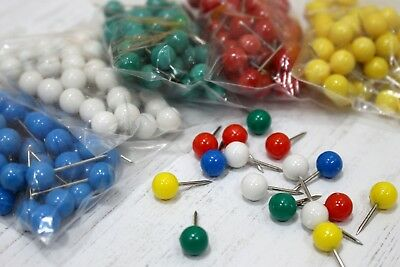 Map Pins 50 Large 8mm Head For Flag Indicator Cork Notice Boards Arts & Crafts • 2.05£