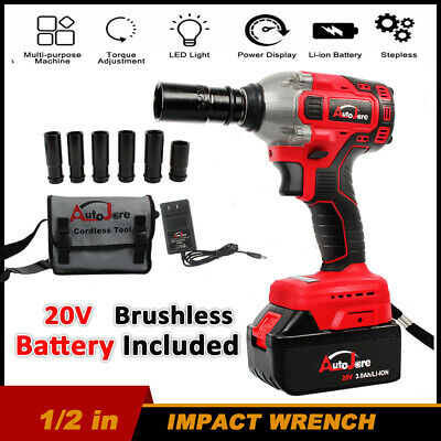 Autojare 1 2 Inch Chuck Impact Wrench 20v Electric Battery Cordless Craftsman 92 00