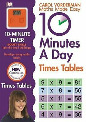 £6.45 • Buy 10 Minutes A Day Times Tables (Made Easy Workbooks) By Carol Vorderman New Book