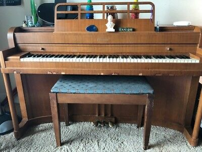 $680 • Buy Vintage Walnut, Semigloss Finish 1950s/60s Baldwin Acrosonic Piano