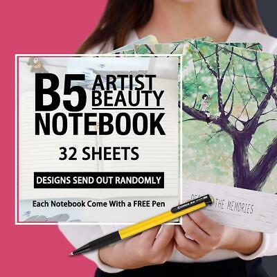 AU5.95 • Buy B5 Artist Beauty Stationery Diary Gift Girls Lined Ruled Notebook+ 1Pen Free