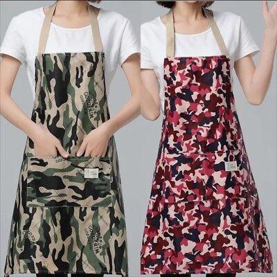 $20.64 • Buy Womens / Mens Camo Army BBQ Kitchen Cooking Camoflauge Adjustable Apron  ❤Aus❤