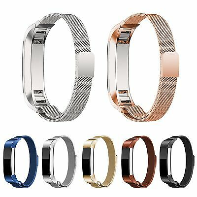 AU15.49 • Buy Stainless Mesh Milanese Magnet Loop Watch Band Strap Bracelet For FitBit Alta HR