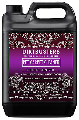 Dirtbusters Pet Carpet Cleaning Solution Shampoo Odour Deodoriser 5L & Vax • 16.99£