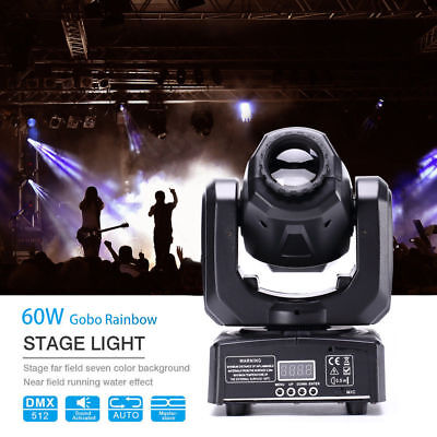 60W Moving Head Stage Light Gobo LED RGBW Show DJ DMX Disco Club Party Lighting • 64.99£