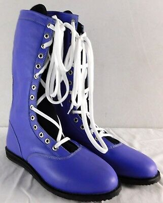 $125 • Buy Purple Pro Wrestling Boots Size 13 Adult New Lucha Libre Gear WWE Outfit