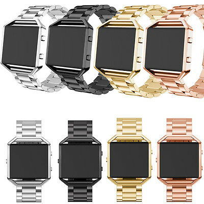 AU6.39 • Buy 3 Pointers Luxury Stainless Steel Watch Band Wrist Strap+Frame For Fitbit Blaze