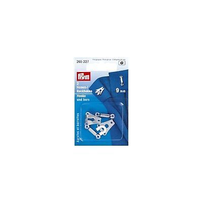 £2.79 • Buy PRYM Hooks And Bars For Trousers And Skirts, 9mm, Silver-coloured.265227.