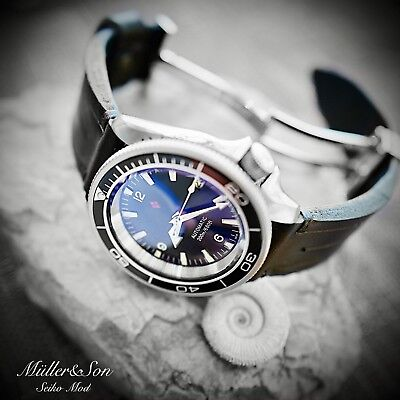 $ CDN992.52 • Buy Müller&Son Seiko SKX Mod Watch  Planet Ocean  SuperMod+Custom Made Horween Strap