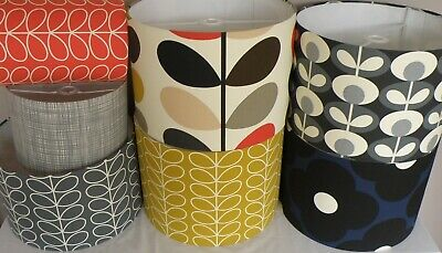 Handmade Double Sided Cover in Orla Kiely Grey Scribble Stem Fabric Brown