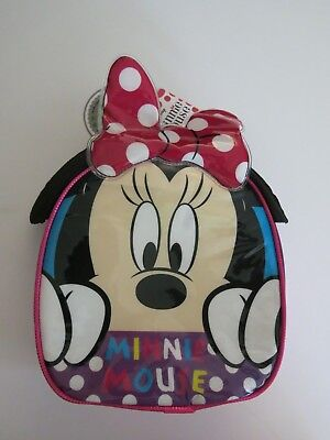 Disney Minnie Mouse Insulated Cooler School Lunch Box Bag Tote Pink • 11.93£