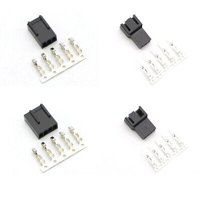 £2.49 • Buy 3 & 4 Pin PC Fan Connectors With Crimps - Male / Female Various Quantities