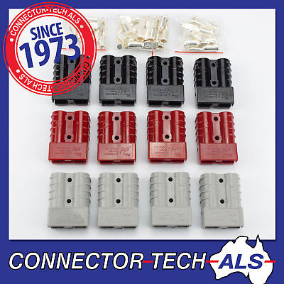AU45.19 • Buy GENUINE Anderson 50A SB50 Plugs And Contacts 4WD Caravan Trailer Solar #50A-KIT5