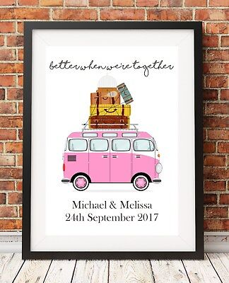 £3.99 • Buy Wedding Gift Anniversary Campervan A4 Print Poster PO84