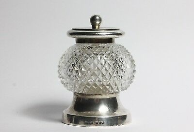 Sterling Silver Antique  Cut Glass Pepper Mill 1890 John Grinsell & Sons • 265£