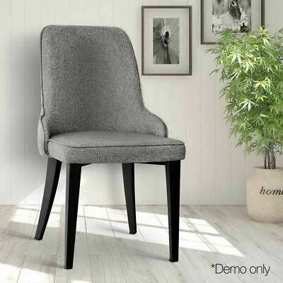 AU186.20 • Buy Artiss Set Of 2 Fabric Dining Chairs - Grey