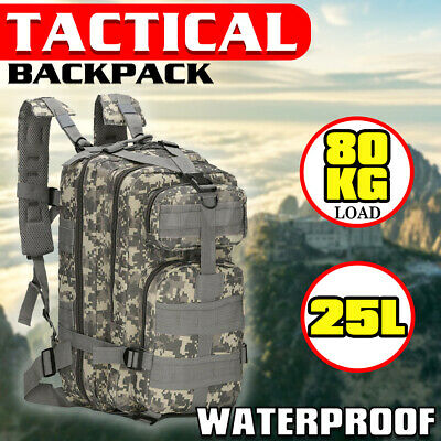AU28.45 • Buy 28L Outdoor Hiking Camping Bag Army Military Tactical Rucksack Backpack Trekking