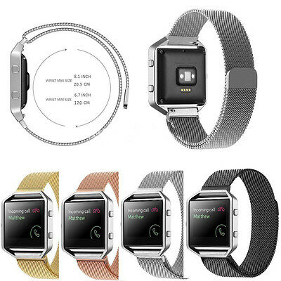 $ CDN8.27 • Buy For Fitbit Blaze Tracker Milanese Magnetic Loop Stainless Steel Wrist Band Strap