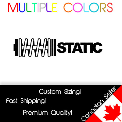 $2.12 • Buy Static Decal | Car Stance Slammed Sticker 7  Lowered JDM Euro