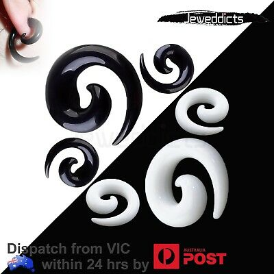 AU6.99 • Buy Acrylic Spiral Taper Ear Stretcher Plug Tunnel Piercing Body Jewellery 1.6-18mm