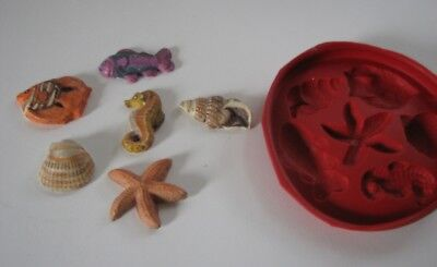Z7126 Mini Sealife - Rubber Latex Moulds By MouldMaster • 3.99£