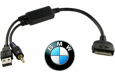 BMW IDrive IPod IPhone Cable Dock Lead Adapter Mini Cooper CT29IP10 AUX USB • 28.90£