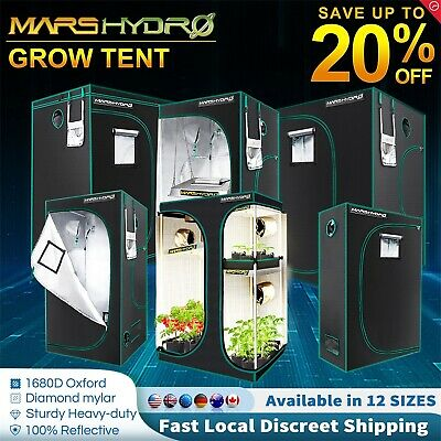AU123.99 • Buy Mars Hydro Hydroponis Indoor Grow Light Tent 1680D Oxford Indoor Grow System