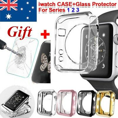 AU6.89 • Buy  Full Cover TPU Case For Apple Watch Series 3/2/1+ IWatch Screen Protector Slim