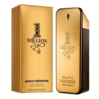 AU160.94 • Buy Paco Rabanne 1 Million EDT 200ml Mens Perfume Spray Spicy Leather Fragrance