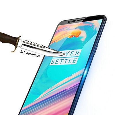 AU5.33 • Buy CURVED FIT FULL TEMPERED GLASS SCREEN PROTECTOR FOR OnePlus One Plus 5T Black