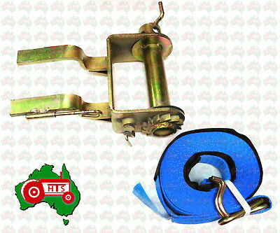 AU49.99 • Buy Tractor Truck Winch And Tie Down Strap 9 Meters Long 2500kg Lashing Capacity