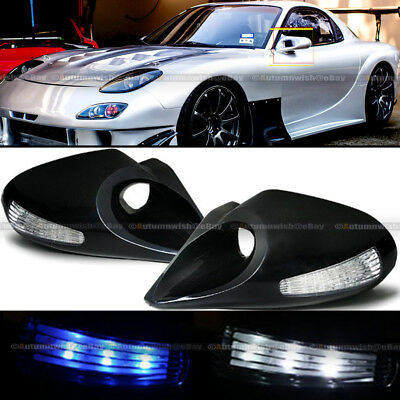 $36.99 • Buy For 95-03 Cavalier 4DR Zero Style Manual Blue / White LED Signal Side Mirror