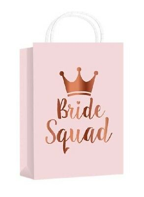 ***Classy BRIDE SQUAD**Rose Gold Metallic Hen Party Gift Bag**Favours*** • 1.99£