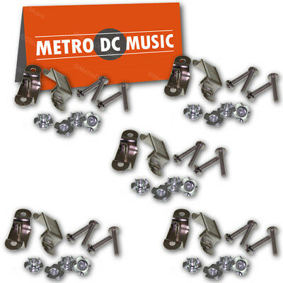 $ CDN15.72 • Buy 5-Pack Hardware Set For Slotted Leather Guitar Amp Handle Screws T-Nuts Brackets