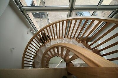 £7450 • Buy Oak Helical Custom Made Staircase Production.