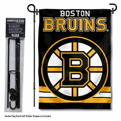 Boston Bruins Garden Flag And Yard Pole Stand Included • 27.95$