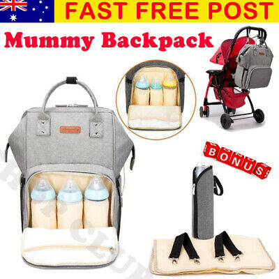 AU37.90 • Buy Multifunctional Large Baby Diaper Backpack Changing Waterproof Bag Mummy Nappy