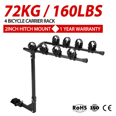 AU89.99 • Buy 4 Bicycles Bike Rack Carrier For Car Rear Towbar 2 Inch Hitch Mount
