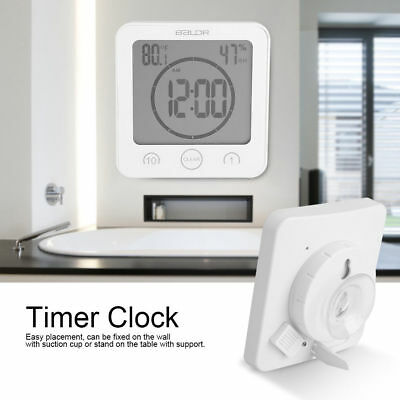 AU23.99 • Buy Waterproof Digital Shower Timer Alarm Clock Touch Screen Countdown Thermometer