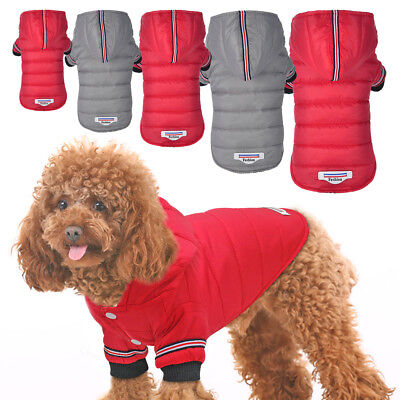 £5.99 • Buy Winter Warm Dog Coat Small Puppy Dog Hoodie Jumsuit Jacket Chihuahua Clothes