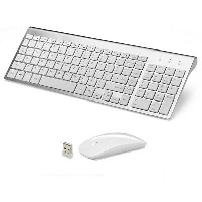 MINI WIRELESS 2.4GHZ Mouse AND Keyboard COMBO APPLE IMAC MACBOOK PRO AIR FSV Ku • 32.95£