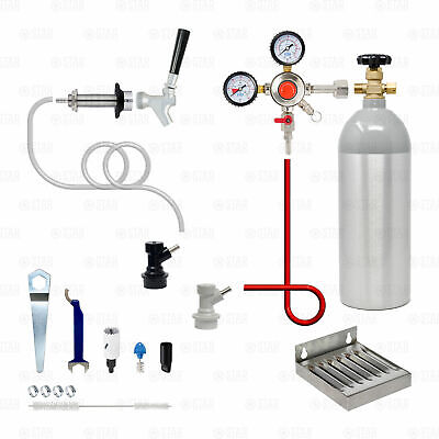 1 Tap Single Home Brew Kegerator Conversion Kit! Keezer Beer Ball Pin Corny Keg • 221.47£