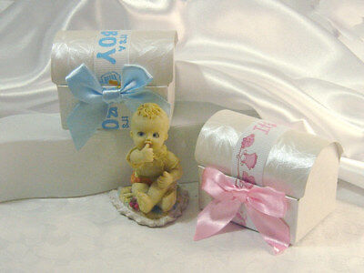 £99.26 • Buy It's A Boy/Girl Treasure Chest Bomboniere Favour Chocolate Boxes For Christening