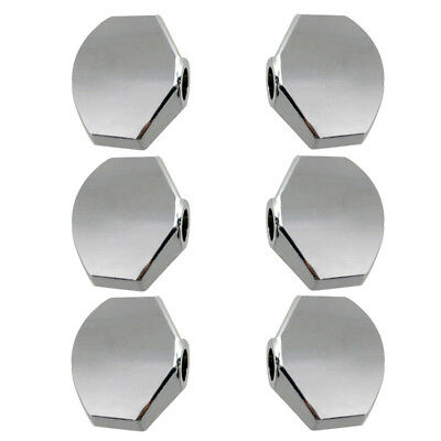 $ CDN8.88 • Buy Tuner Machine Heads Knobs Cap Set For Guitar DIY Accessory Sliver Pack Of 6