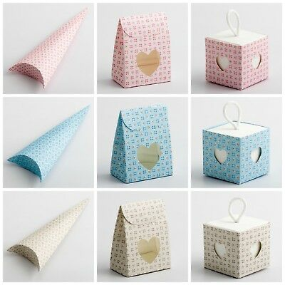 £1.59 • Buy Bloom Wedding/Baby Shower/Christening Favour Boxes. Party Gift Favor Pink Blue