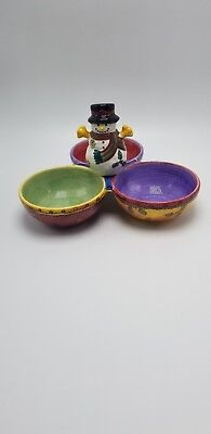Sango Sweet Shoppe Christmas 3 Part Divided Candy Dish • 20.00$
