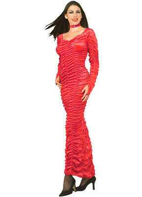 £24.83 • Buy Coffin Queen Dress Ladies Long Velour Gathered Gown Sexy Halloween Costume MD