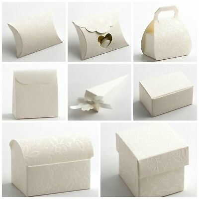 £1.59 • Buy Harmony Off White Wedding Favour Boxes. Party Christening Sweet Favor Gift Boxes